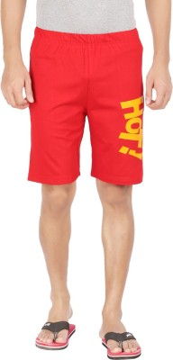 Dk Clues Printed Men's Red Basic Shorts