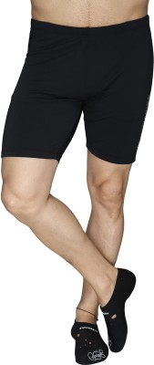 Aquamagica Solid Men's Black Basic Shorts