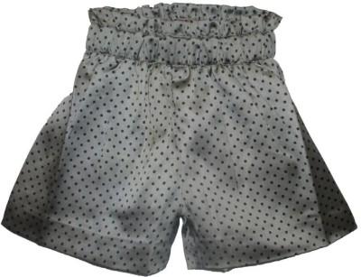 Little Darling Woven Baby Girl's Reversible Grey Hotpants
