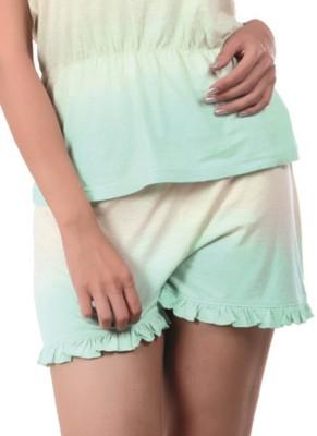 Slumber Jill Solid Women's Yellow, Green Basic Shorts