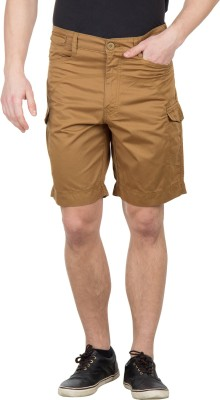 Wilkins & Tuscany Solid Men's Brown Basic Shorts