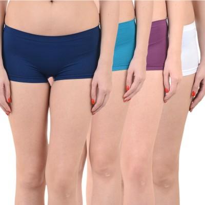 Mynte Solid Women's Light Blue, Blue, Purple, White Cycling Shorts, Gym Shorts, Swim Shorts