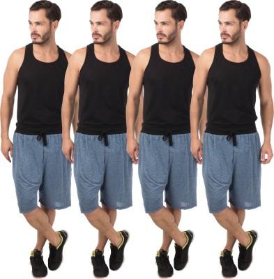Meebaw Self Design Men,s Dark Blue, Dark Blue, Dark Blue, Dark Blue Sports Shorts