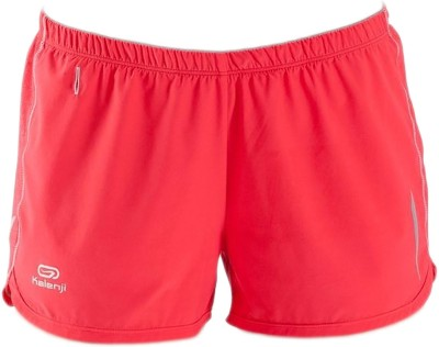 Kalenji Solid Women's Red Sports Shorts