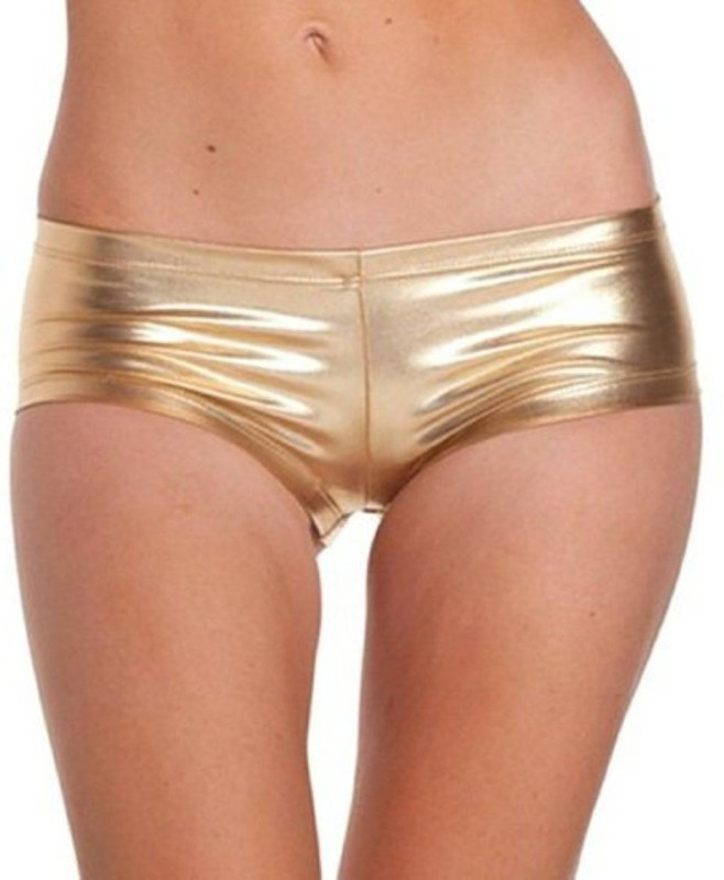 Kaamastra Self Design Women's Gold Hotpants