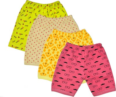 Myfaa Printed Baby Girl's Multicolor Basic Shorts