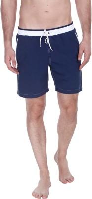 Zobello Solid Mens Dark Blue Swim Shorts