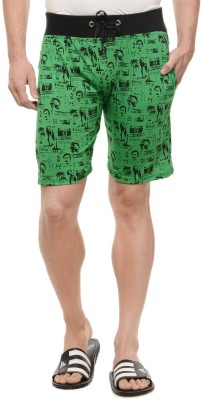 Rose Taylor Printed Men's Green Beach Shorts