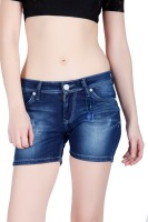 Lawman Women's Clothing - LAWMAN Pg3 Solid Women's Blue Denim Shorts