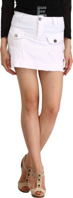 Star Style Solid Women's White Basic Shorts
