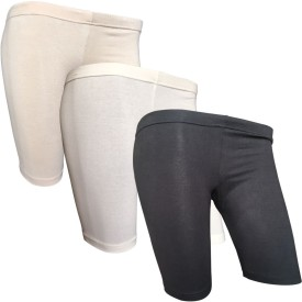 Lilsugar Short For Girls Solid Cotton Linen Blend, Cotton Nylon Blend, Cotton Linen Blend(Multicolor)