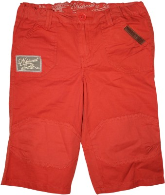 FS Mini Klub Printed Boy's Red Basic Shorts