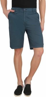 Imagica Solid Men's Blue Basic Shorts