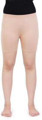 Bonjour Solid Girl,s Beige Basic Shorts