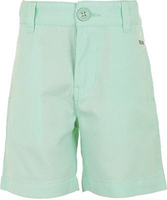 Ice Boys Solid Boy's Blue Basic Shorts