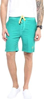 MONTEIL & MUNERO Solid Men's Green Chino Shorts