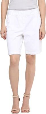 Hapuka Solid Women's White Basic Shorts