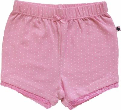 Babeez World Polka Print Baby Girl's Pink Basic Shorts