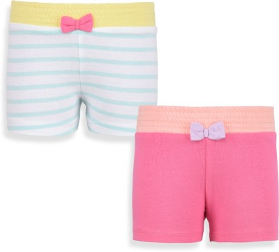 Mothercare Solid Baby Girl's White, Pink Night Shorts