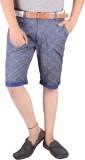 Actistud Printed Men's Blue Basic Shorts