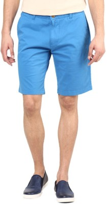 American Swan Solid Men's Blue Basic Shorts