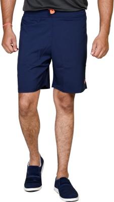 Tailor Craft Solid Men's Blue Basic Shorts