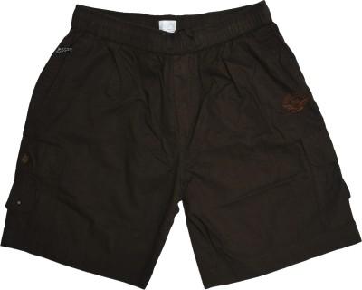 Ac Aditi Creations Solid Men's Brown Bermuda Shorts