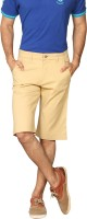 Men's Wear - Provogue Solid Men's Brown Chino Shorts