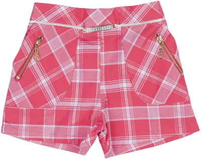 Hunny Bunny Checkered Girl's Red Hotpants
