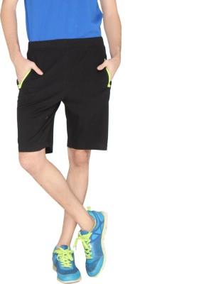 LUCfashion Solid Men's Black, Green Sports Shorts