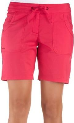 Quechua Solid Women's Pink Sports Shorts