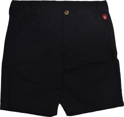 GJ Jeans Unltd Solid Girl's Black Basic Shorts