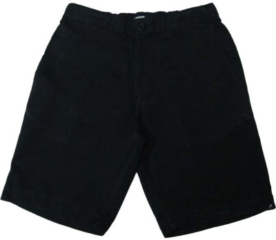 Acetone Solid Mens Black Basic Shorts
