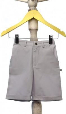 Mi Dulce An,ya Solid Baby Boy's Grey Chino Shorts