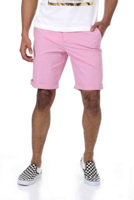 Shapes Solid Men's Pink Chino Shorts