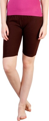 Rham Solid Women's Brown Basic Shorts