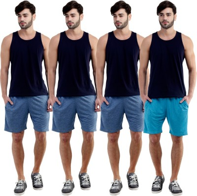 Dee Mannequin Self Design Men's Dark Blue, Dark Blue, Dark Blue, Blue Sports Shorts