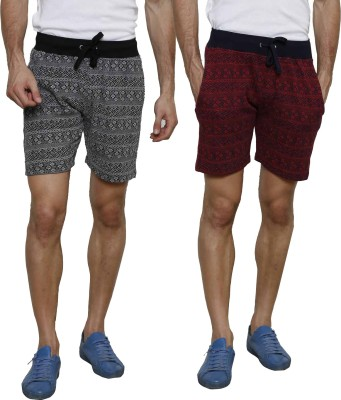 Crux&Hunter Printed Men's Multicolor Basic Shorts