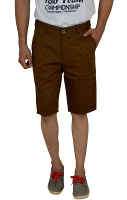 Studio Nexx Printed Men's Gold Basic Shorts, Chino Shorts