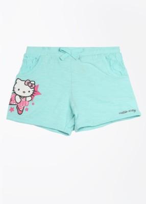 Hello Kitty Printed Girl's Blue Basic Shorts