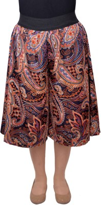 V3ishop Paisley Women's Brown Culotte Shorts