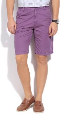 Arrow Sports Solid Men's Purple Basic Shorts