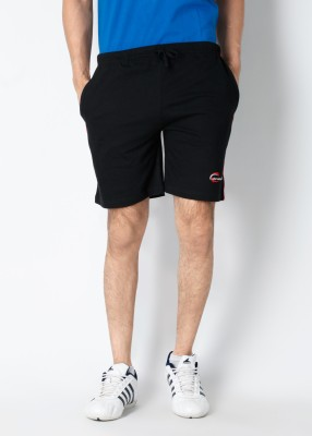 Chromozome Solid Men's Black Shorts