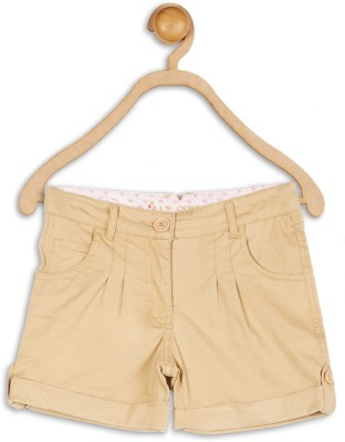 612 League Solid Girl's Brown Basic Shorts