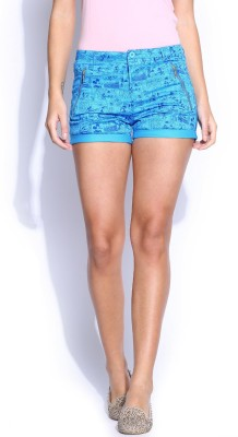 Kook N Keech Disney Printed Women's Blue Basic Shorts