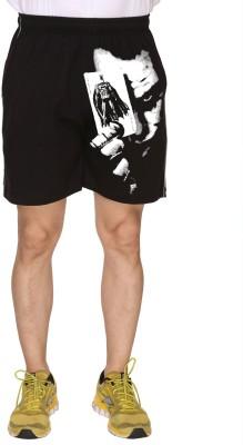 SayItLoud Printed Men's Black Gym Shorts