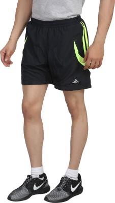 Hannspree Solid Men's Black, Green Gym Shorts