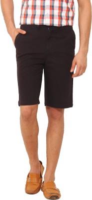 I-Voc Solid Men's Black Chino Shorts