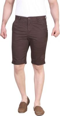King & I Solid Men's Brown Chino Shorts