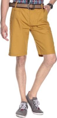 Silver Streak Solid Men,s Brown Basic Shorts